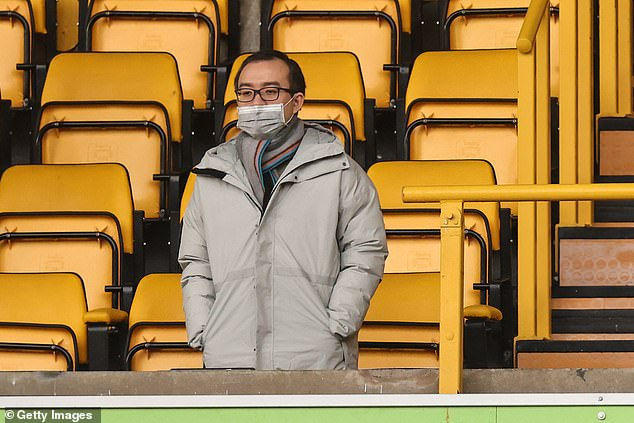 However, Wolves are determined not to sell their prized asset this summer (pictured: Jeff Shi)