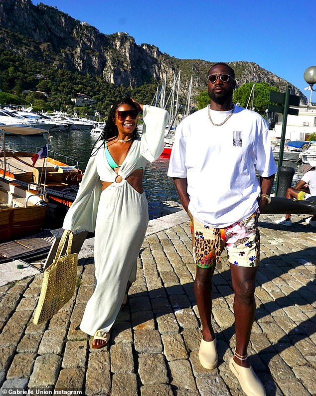 Fun in the sun! The Bring It On actress gave her 18.7 million Instagram fans and followers more to gush over when she left the couple's luxurious yacht decked out in a stylish white dress over a bikini to enjoy Saint-Jean-Cap-Ferrat, in Southeastern France