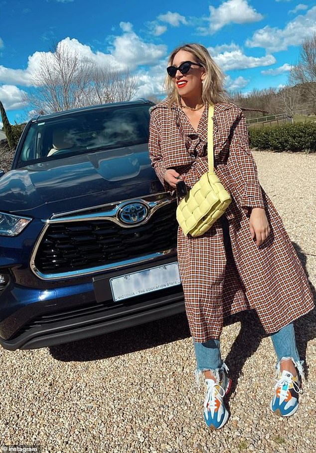 Not even her birthday: Easily the biggest gift out of the lot, Phoebe Burgess received a car after signing a partnership with Toyota