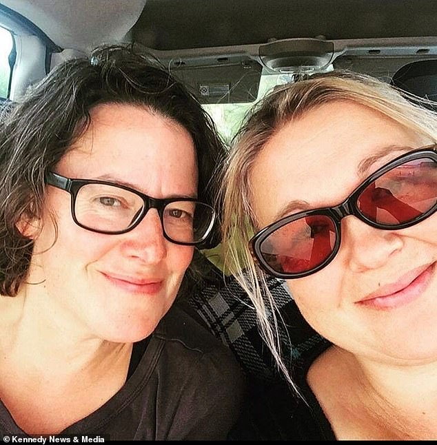 Emma Price (right)was alerted to the spiteful post on Thursday 19 August from another business owner and discovered abusive comments. Pictured with Rachel Jones