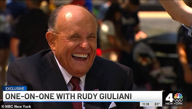 Giuliani laughed off the fact that federal investigators may be struggling to access his technology