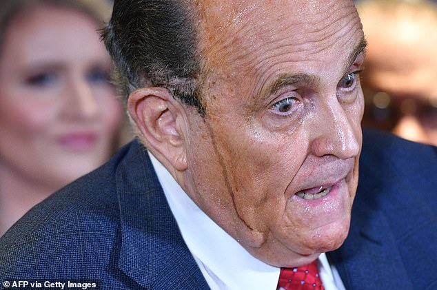 The former Trump lawyer is being sued by Dominion Voting Systems for $1.3 billion for claims he made about the 2020 election, including comments at this November 19 press conference