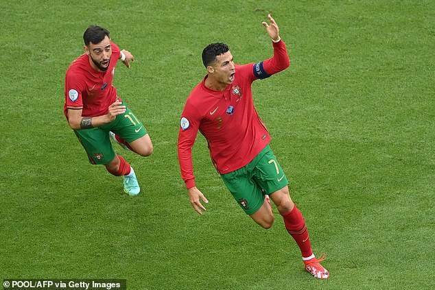 Fellow Portugal international Bruno Fernandes will hoping to recreate these scenes soon