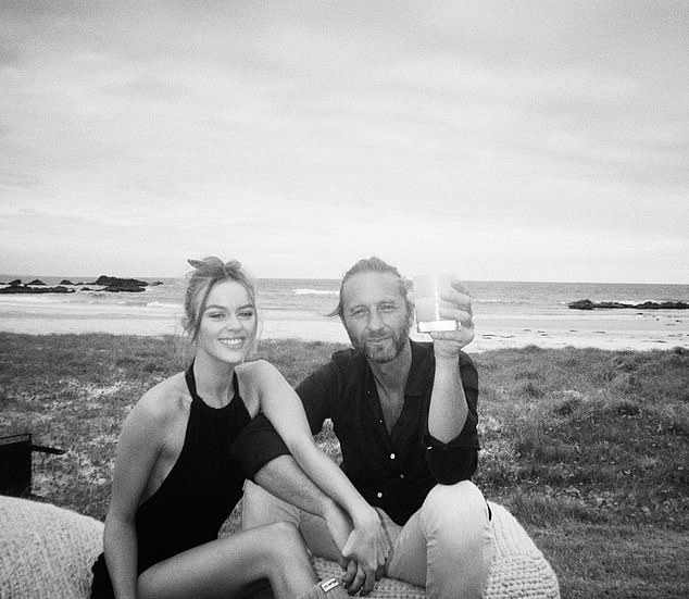 Sweet:Madeline Holtznagel has paid tribute to her boyfriend Justin Hemmes as he celebrates his 49th birthday. The model shared rare images of the pair together to her Instagram on Friday as the billionaire pub baron turned 49. Pictured together