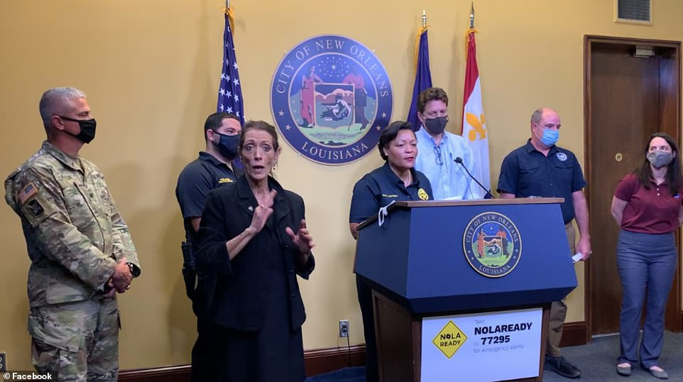 New Orleans Mayor Latoya Cantrell urged residents reminded residents in an earlier press conference that, due to a local COVID surge - hospitals in the city are already at full capacity.
