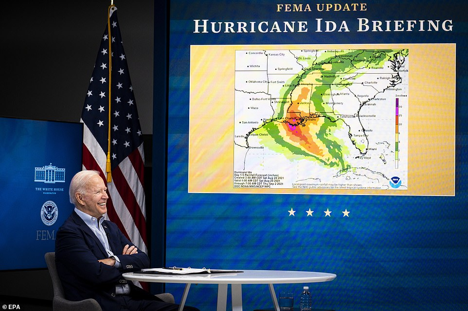 Alabama Governor Kay Ivey and Louisiana Governor John Bel Edwards shared a call with Biden on Friday afternoon to synchronize federal and local storm preparation and response plans. Also on the call was FEMA Administrator Deanna Criswell, Homeland Security Advisor Liz Sherwood-Randall and Director of Intergovernmental Affairs Julie Rodriguez.