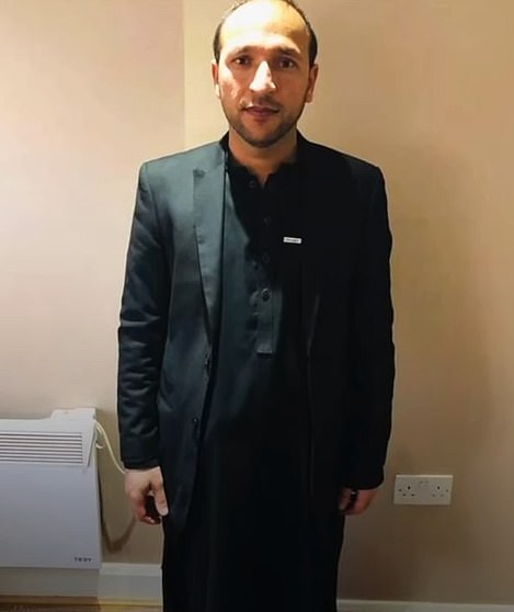 Pictured: Muhammad Niazi, a British Afghan who travelled there from London to help his family