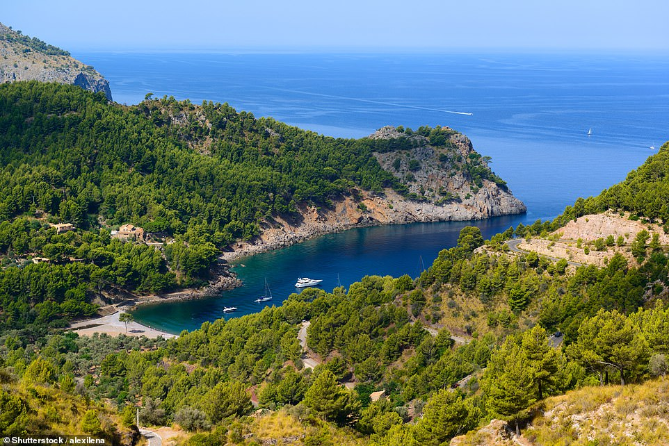 The more-or-less secret Cala Tuent on the north side of Mallorca. Reaching this breathtaking cove involves driving one of the most spectacular roads in Europe