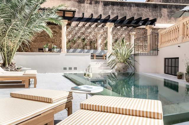 The pool area is a blissful haven to relax in after a hard day on the Old Town cobbles...