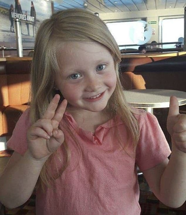 An autopsy found Alesha, 6, (pictured) suffered 117 injuries and died from compression