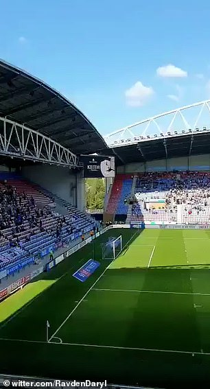 Wigan Athletic's tribute to Keith the duck