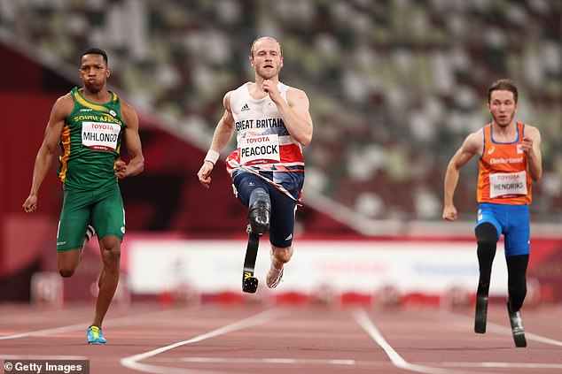 ParalympicsGB sprinter Jonnie Peacock will compete in the men's 100 metre final on Monday