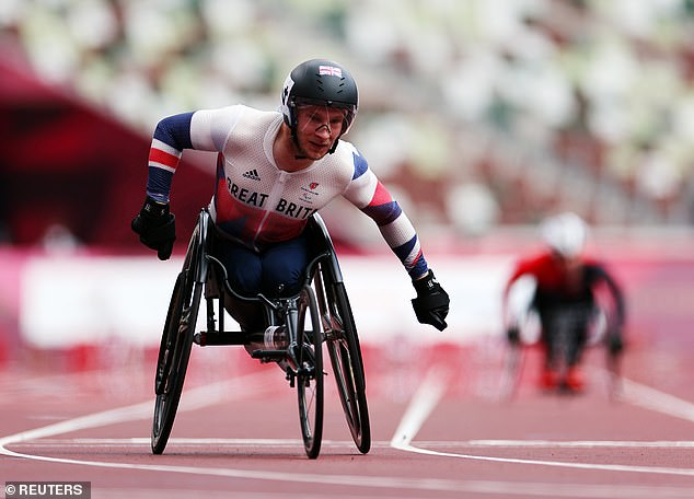 Andrew Small improved on a bronze medal in Rio to win gold in the men's T33 100m final