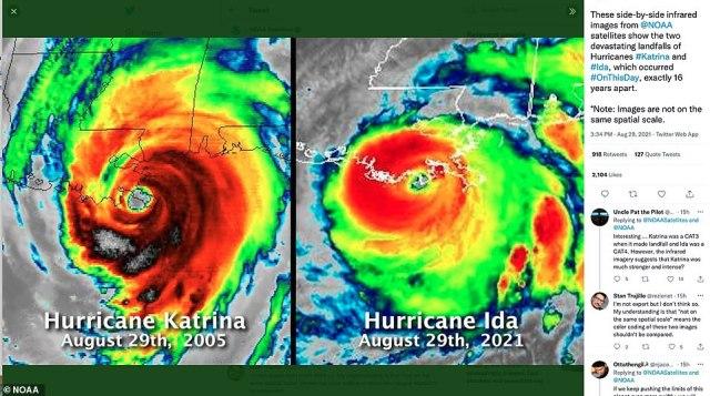 Ida hit New Orleans on the 16th anniversary of Hurricane Katrina