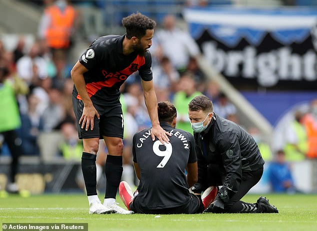 Calvert-Lewin sustained a thigh strain during Saturday's 2-0 Premier League win at Brighton