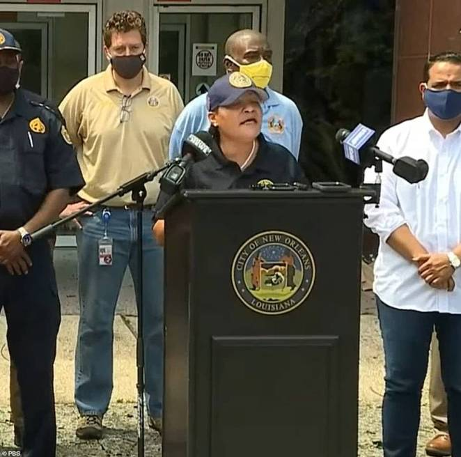 Louisiana has been hit by a number of looting cases in the wake of Hurricane Ida andMayor LaToya Cantrell said at a press conference Monday that the city is cracking down on looting and all offenders will be charged with a state felony