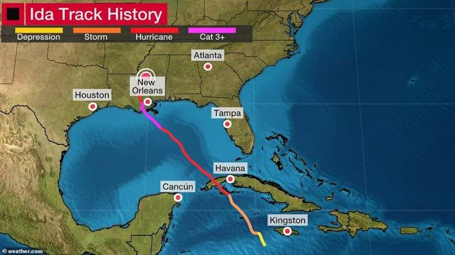 The hurricane made its way through the Caribbean, making landfall in Cuba before moving onto the Gulf of Mexico and the southeastern United States
