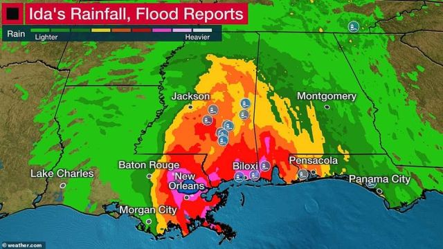 Southeastern Louisiana and southern Mississippi were hit with heavy downpours and flooding as a result of the hurricane