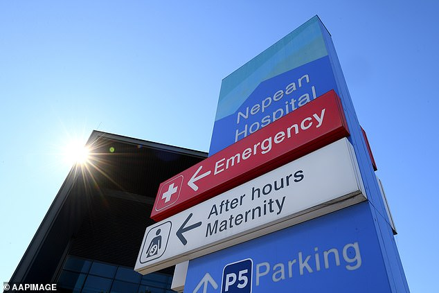 Michelle Dowd admitted ICU was stretched by the sheer numbers of patients, even if it was being shared across the NSW health system. (Pictured, Nepean Hospital in Sydney's west)