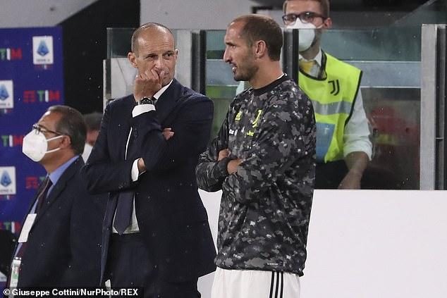 Boss Massimiliano Allegri (left) and star defender Giorgio Chiellini have plenty to ponder