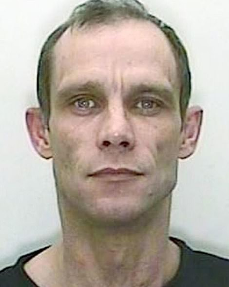 A mug shot of convicted double murderer Christopher Halliwell