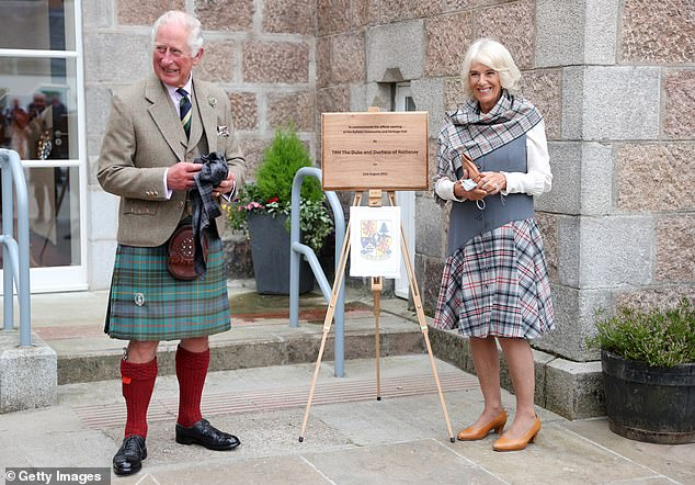 Check one out! The Duke and Duchess of Rothesay, as the couple are officially known in Scotland, turned out in their finest tartans to unveil a plaque at the Ballater Community and Heritage Hub on Tuesday