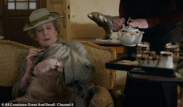 Maiden Aunt: Mrs. Pumpfree is the happily eccentric owner of the pampered Pekingese, Tricky Woo