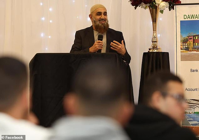 Muslim preacher and natural healer Mohammed Shaar (pictured) who declared Covid-19 doesn't exist is now fighting for his life in hospital after contracting the Delta strain of the virus