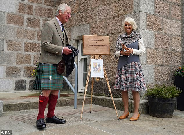 The occasion in Royal Deeside is one of several public outings the couple have made during their latest trip to Scotland