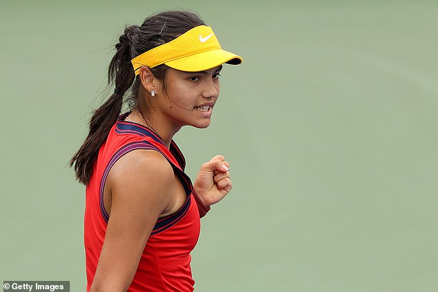 The 18-year-old looked assured as she cruised to a one set lead with a 6-2 win in the first