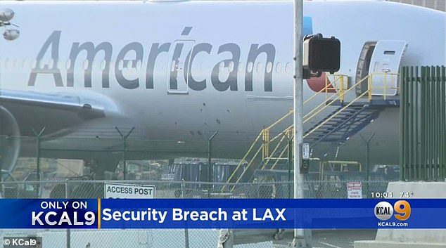 An American Airlines cleaning crew apprehended the Michael Maine inside the plane