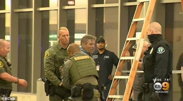 It was not the first time airport security in the US had been breached over the past week. Last Friday Johnny Hecker, 51, (pictured) allegedly breached terminal security at John Wayne Airport in Santa Ana. He was able to avoid police by hiding out in the terminal ceiling