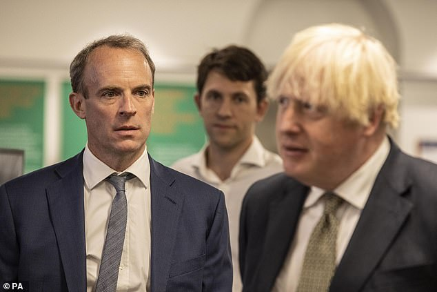 Dominic Raab said the number of Brits still in Afghanistan is 'now down at a very low level' after 5,000 were brought home since April this year