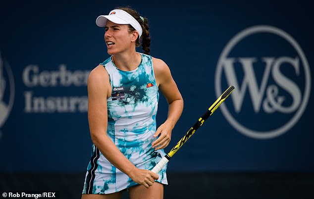 Jo Konta suffered a thigh injury that forced her to withdraw from the US Open