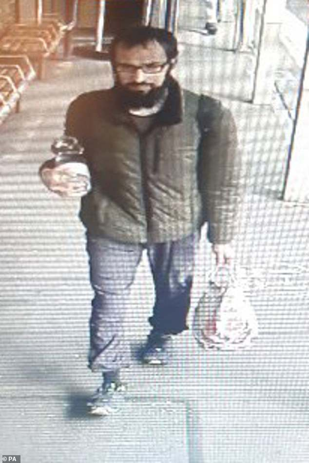 The force has said the five unprovoked attacks in Stamford Hill on August 18 were being treated as hate crimes. Pictured: The man police want to speak to in connection with an alleged racist attack on a Jewish man in his 60s