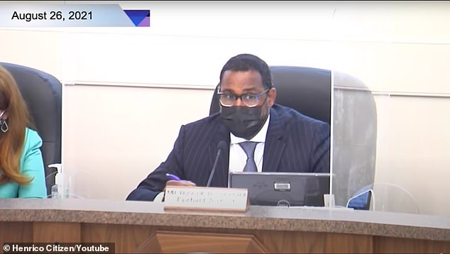 Video of the Virginia School Board meeting showsboard member Reverend Dr. Roscoe D. Cooper III calling a list of joke names to speak