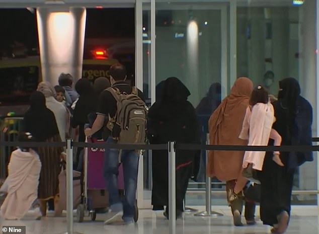 Some of the Afghan refugee families arriving at Adelaide airport last week (pictured). The government has pledge to resettle 3,000 people from the country