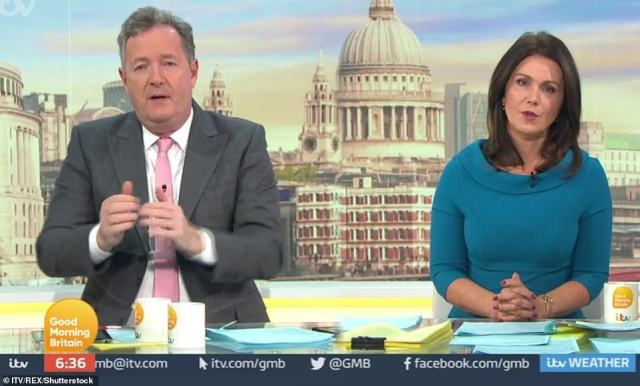 Hours later on GMB, Piers said he didn't believe a word Meghan Markle said triggering furious protest from her fans of the couple. Today OFCOM announced that they had rejected all the complaints against Piers