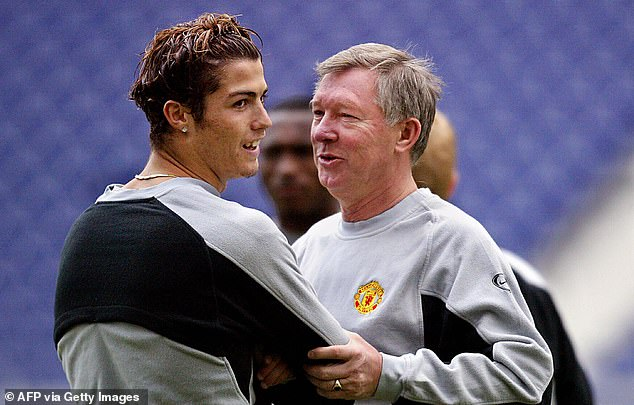 Cristiano Ronaldo (left, pictured in 2004) says Sir Alex Ferguson is why he's back at Man Utd