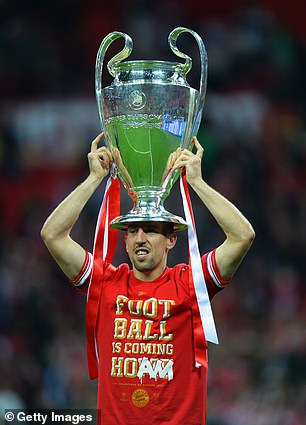 While at Bayern, Ribery was at his peak and won the Champions League in 2013 at Wembley