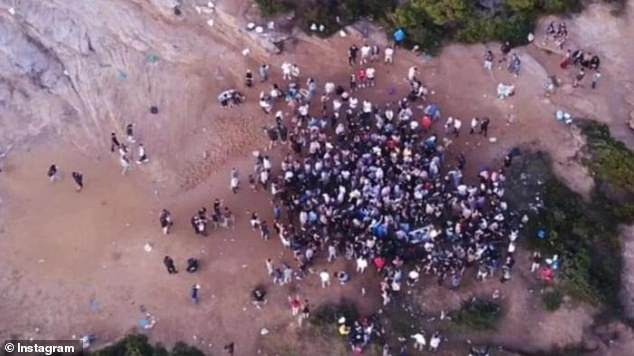 The penalties were handed out to men aged between 18 and 24 in attendance at a gathering on the Malabar headland on Friday July 23 (pictured: party on the headland last year)