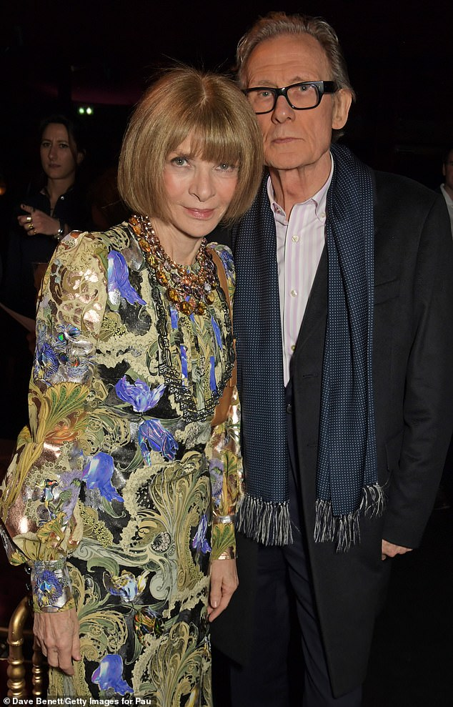Anna Wintour and Bill Nighy, both 71, (pictured) were photographed in Rome last week