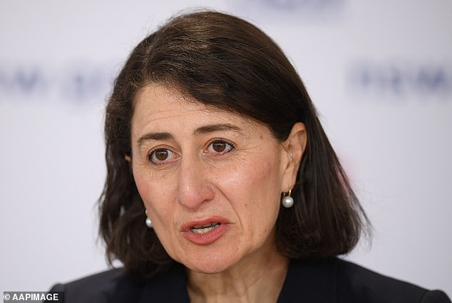 Premier Gladys Berejiklian (pictured) is hopeful that NSW will reach 70 per cent fully vaccinated by October 21