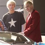 Machine Gun Kelly and Mod Sun film their joint movie with Pete Davidson and Becky G in Los Angeles💥👩💥💥👩💥