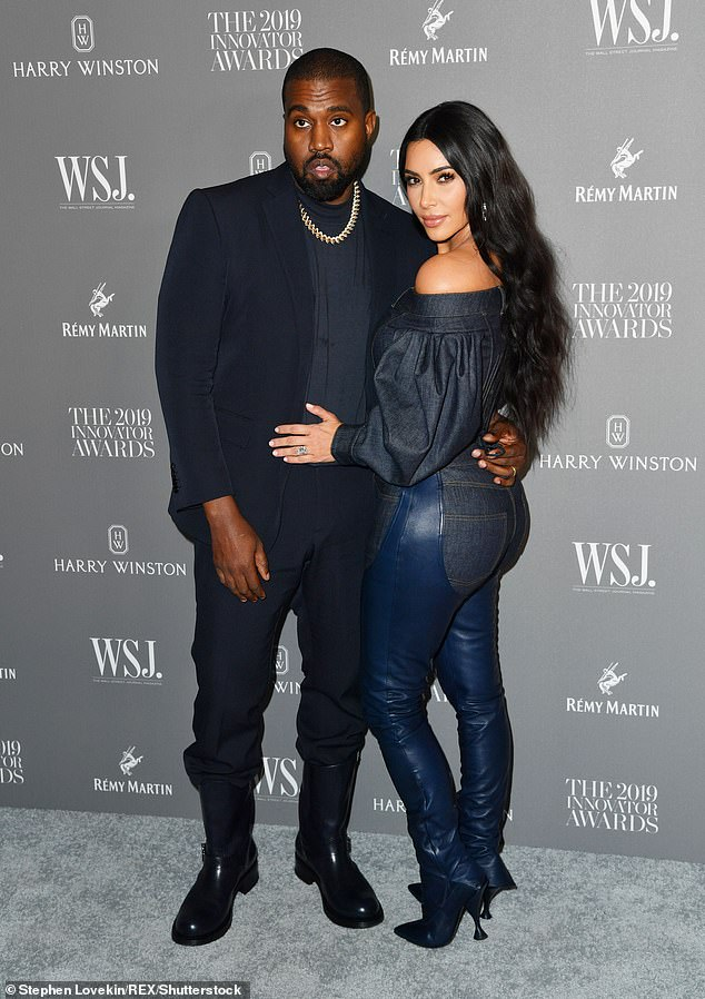 Split: Kanye West's recently released album Donda gives fans insight into the rapper's failed marriage to reality TV sensation Kim Kardashian, who filed for divorce in February;  Kanye and Kim photo in 2019