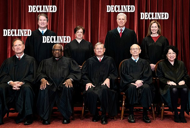 In the 5-4 ruling, Justice Breyer, Chief Justice John Roberts, Justice Sonia Sotomayor and Justice Elena Kagan dissented