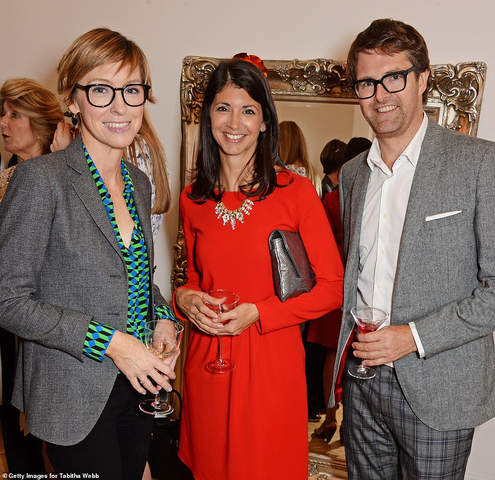 Miss Coladangelo (pictured here with former husband Oliver Tress - the founder of the Oliver Bonas clothing chain), who is a director and shareholder at lobbying firm Luther Pendragon