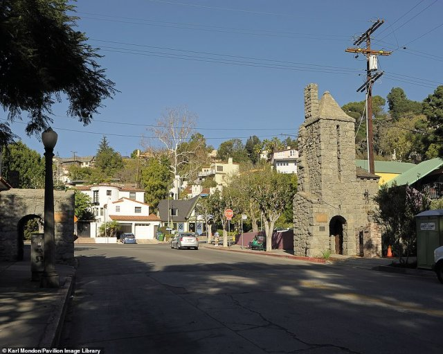 BEACHWOOD GATES: 'Relatively unchanged, Beachwood village today is home to many writers, actors and artists,' says Rosemary. There, you'll find the Village Café, where 'stars go for breakfast with the rest of the world'. Rosemary adds the 1978 film Invasion of the Body Snatchers – which filmed scenes in Beachwood Canyon - helped to make the area famous