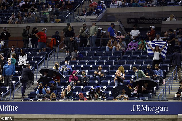 It was not the only leak to enrage, as a problem with the roof allowed rain to enter the court