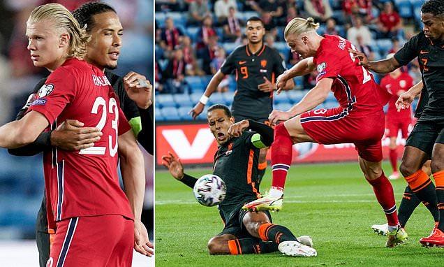 Erling Haaland told 'f***ing hell, you broke my finger', by Virgil van Dijk  in World Cup qualifier